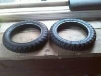 2 Tyres plus inner tubes