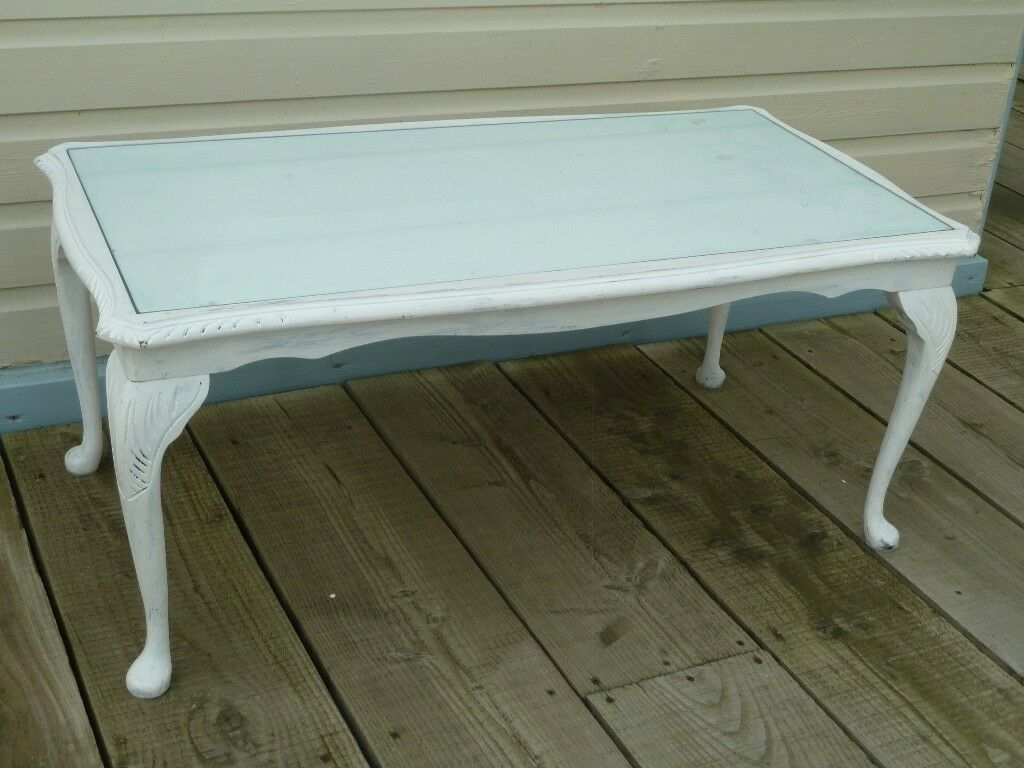 Shabby Chic Coffee Table Glass Top ✓ Coffee Table Design Galleries