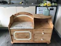Pine wood telephone table