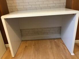 Gloss White Desk Excellent condition - £50