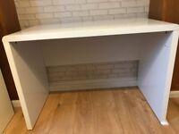 Gloss White Desk Excellent condition - £50