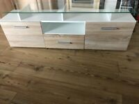 TV media unit, only 3months old, cost £180, sell for bargain £50