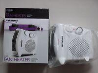 HYUNDIA (Brand NEW (Boxed)) (White) fan heater 2000 Watts. £15.00.