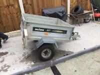 Small tipping trailer camping trailer