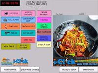 J2 POS Terminal TouchScreen System 4 Restaurant Bar Takeaway Fast Food Fish & Chips Delivery Epos