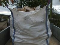 Builders bag of seasoned barn stored split logs - free local delivery