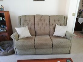 3 Seater Sofa + 1 electronic recline, lift and tilt chair in excellent condition