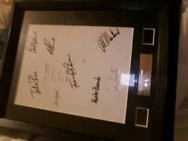 The god father signed and framed. With two negatives,