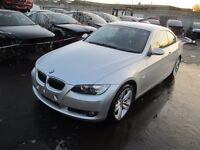 2007 BMW E92 325I COUPE SILVER BONNET BUMPER LIGHT ENGINE DIFF GEARBOX WING DOOR MIRROR ALLOYS