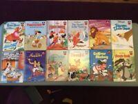 Disney hardback books, Mickey, Aladdin, Bambi