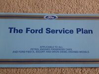Ford Service Book for an Escort MK3, Ford Escort Series 1 RS Turbo and RS 1600i