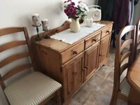 Pine Dining Sideboard Unit 3 Door & 3 draw - ONO on price