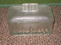 Frosted and Cut Glass Butter Dish for £3.00