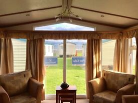 QUALITY PRE OWNED CARAVAN FOR SALE WITH SEA VIEW PITCH. STUNNING SEA VIEWS. NEWBIGGIN BY THE SEA.