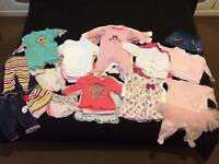 Must Have Bundle of Baby Girl Clothes 0-3 months 53 items