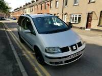 7 SEATER. 53 PLATE SEAT ALHAMBRA. 2 LITRE PETROL. IDEAL FAMILY CAR