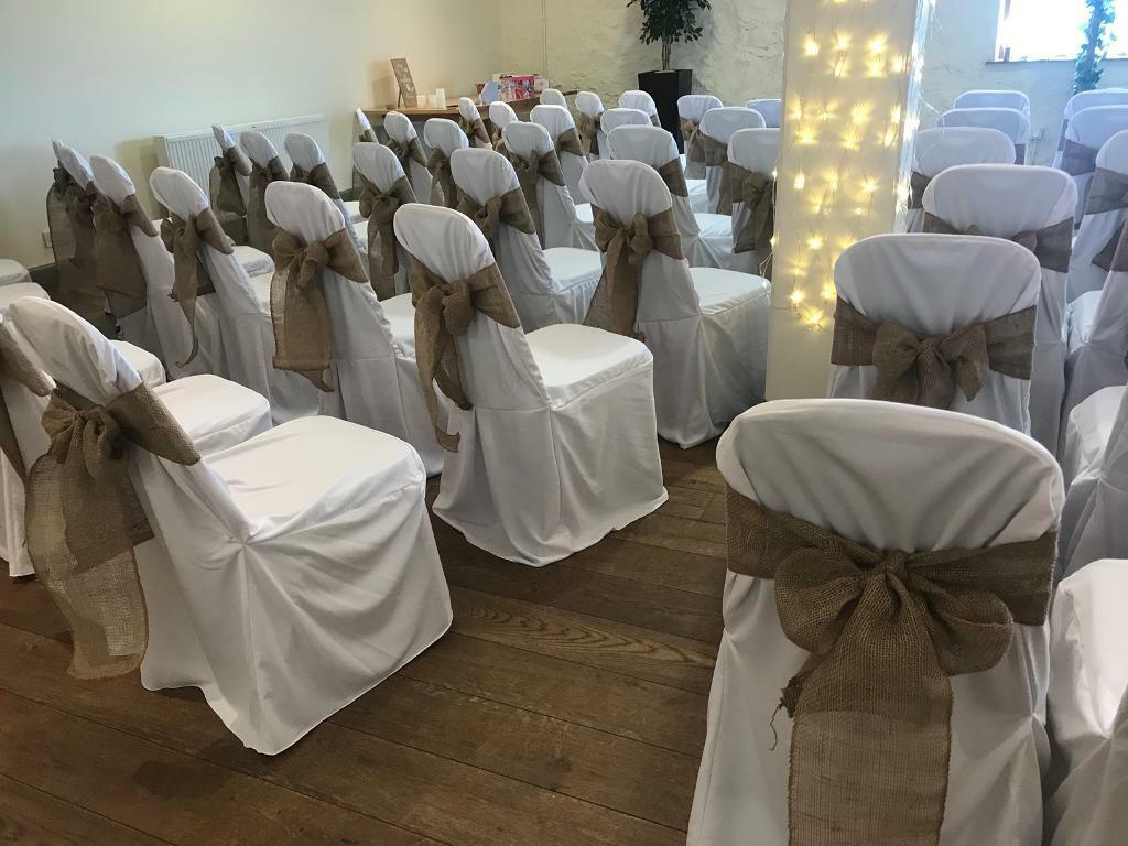 Marvelous 122 White Wedding Chair Covers Loose Fitting Cost Over 400 New Used Once In Shotts North Lanarkshire Gumtree Machost Co Dining Chair Design Ideas Machostcouk