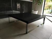 Habitat Coffee table- Dark Brown and Chrome