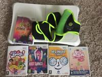 Wii fit balance board plus Zumba and other games
