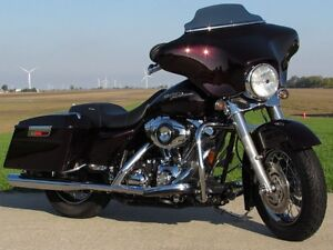2007 harley-davidson FLHX Street Glide   Merlot Pearl and Stage  London Ontario image 1