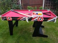 5ft folding pool and snooker table