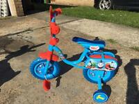 "Bike, Thomas and friends 10"" like new."