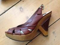 Bertie leather shoes/ heels -size 6 (39)