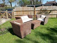 4 Piece Rattan garden or conservatory furniture set.