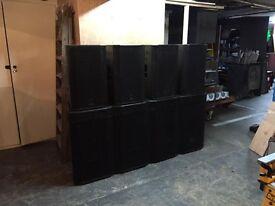 Cray PA Speaker Rig, Amps & Digital Processor - 11,000 Watt RMS - DJ, Live Band or Install