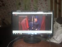 "for sale 22"" led widescreen computer monitor £20"