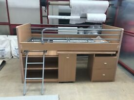 Single Cabin Bed with store away desk