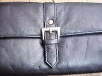 Ladies Large Black Leather Purse