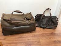 Kangol Brown Holdall Wheelie Luggage Set Hand Luggage And Suitcase