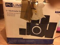 pc line 5.1 multimedia speakers
