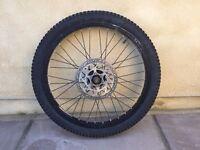 Bike wheel 20 x 2.0 with brake disc