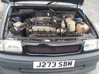 vauxhall nova with gsi running gear bumpers kit avo coilovers lots of extras