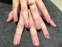 Gel overlay manicure