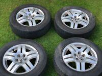 5x100 Wheels alloys set vw golf mk4 GT 195/65 R15