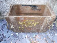 Wooden Army Ammo box for .303 blanks