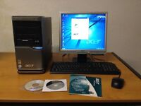 Acer Veriton M460 PC with Monitor, Keyboard and Mouse - Great Condition
