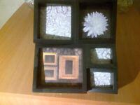 Black Multi Picture Photo Frame