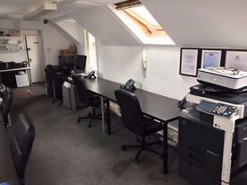 DESK SPACES IN HOVE OFFICE