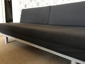 MUJI Sofa Bed in Charcoal Grey - sofa / double bed - Good condition