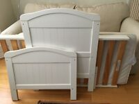 East Coast Nursary cot bed with John Lewis pocket sprung mattress
