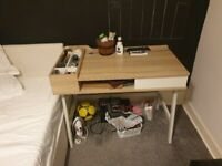 contemporary functional desk with storage space for documents and other excellent condition