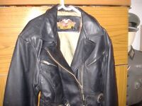 gen ladies harley davidson leather jacket size m