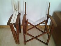 4 WOODEN DIRECTORS FOLDING CHAIRS