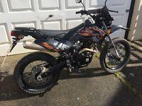 White Knuckle 125cc Trail Bike, Nearly New