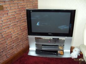 "Panasonic 42"" TV with its own stand"