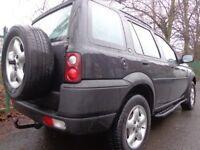2002 black landrover freelander td4 2.0diesel+towbar+mot aug+side steps+cycle rack+roofbars+DELIVERY